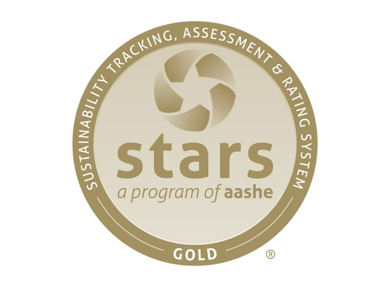 Gold seal for stars (Sustainability Tracking, Assessment, and Rating System) a program of AASHE