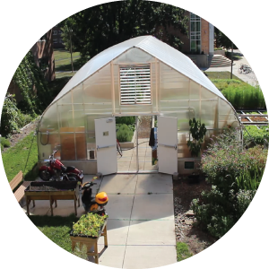 A photo of the Bailey Residential Hall GREENhouse.