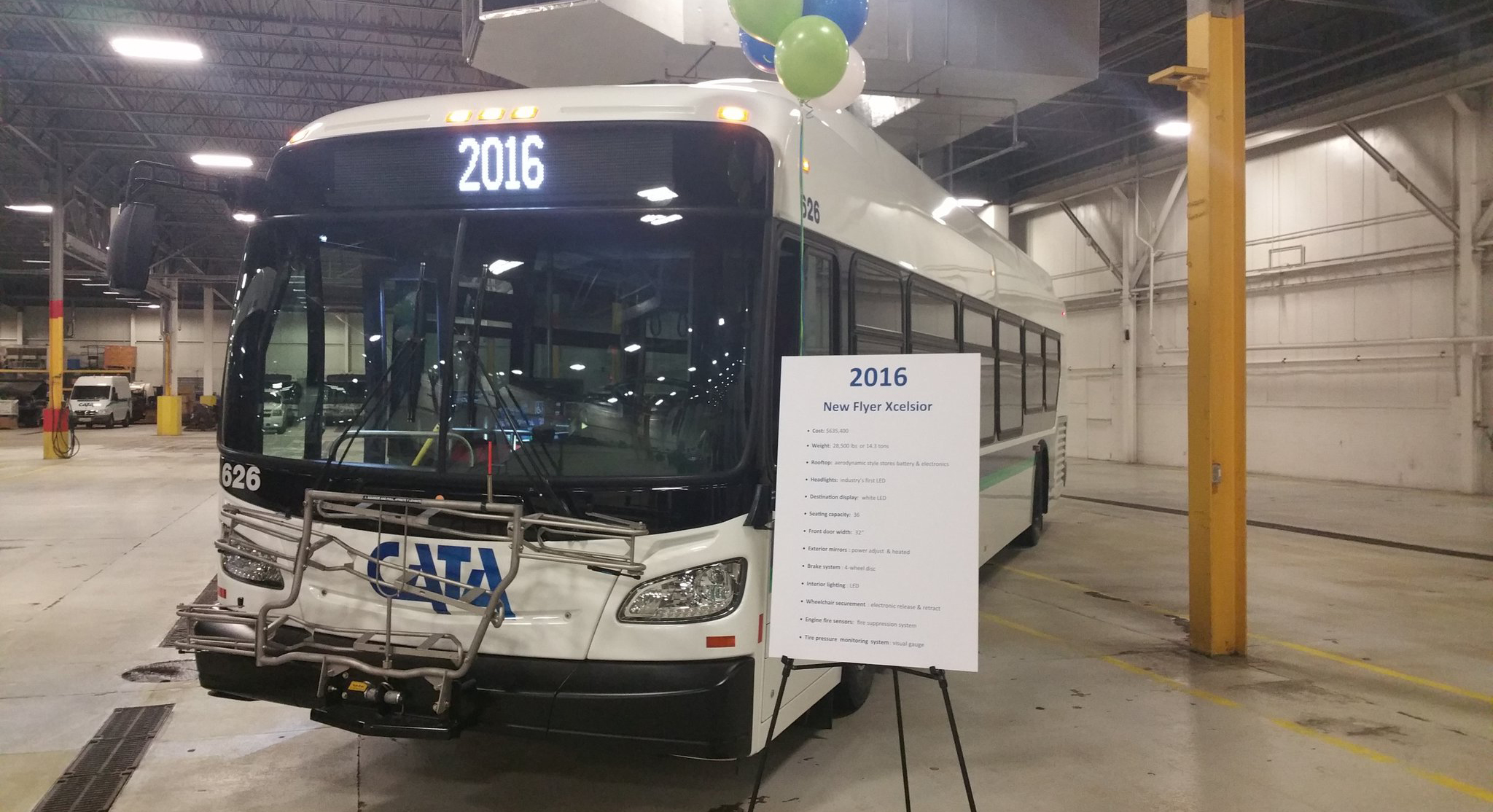 CATA's improved hybrid Xcelsior model pictured at the debut event.