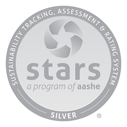 Silver seal for stars (Sustainability Tracking, Assessment, and Rating System) a program of AASHE